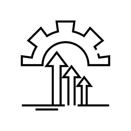 Setup challenges line icon, concept sign, outline vector illustration, linear symbol.