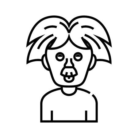 Scientist method line icon, concept sign, outline vector illustration, linear symbol.