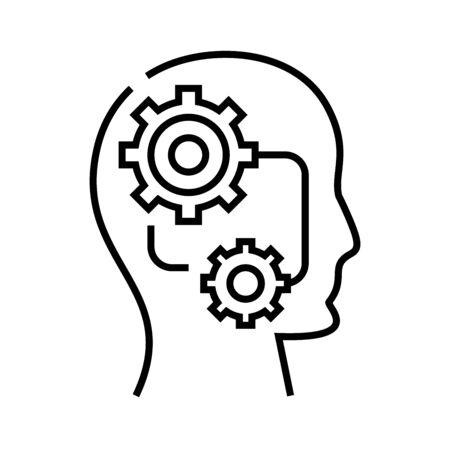 Self settings line icon, concept sign, outline vector illustration, linear symbol. Vektorgrafik