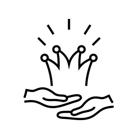 Selt declaring line icon, concept sign, outline vector illustration, linear symbol.