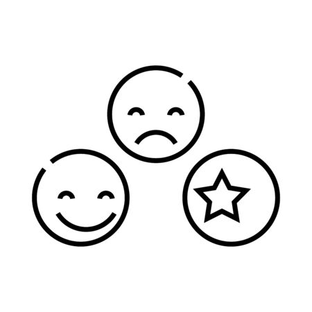 Smiling line icon, concept sign, outline vector illustration, linear symbol. Illustration