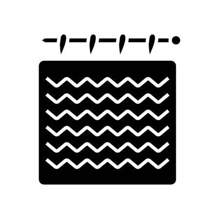 Hadmade work black icon, concept illustration, vector flat symbol, glyph sign. Vector Illustratie