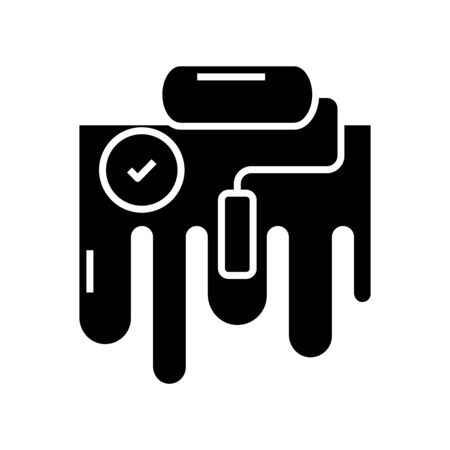 Made task black icon, concept illustration, vector flat symbol, glyph sign.  イラスト・ベクター素材