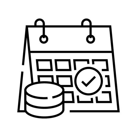 Solving task line icon, concept sign, outline vector illustration, linear symbol. Ilustração
