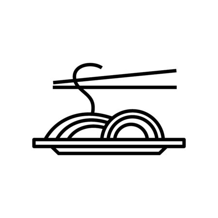 Spagetti line icon, concept illustration, outline symbol, vector sign, linear symbol.