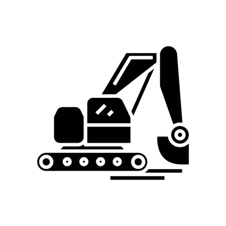 Industry technic black icon, concept illustration, vector flat symbol, glyph sign.