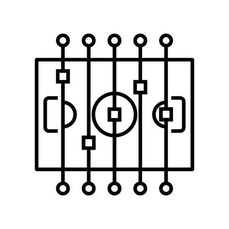 Sport arena line icon, concept sign, outline vector illustration, linear symbol.