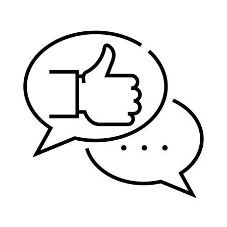Succesful conversation line icon, concept sign, outline vector illustration, linear symbol. Vectores