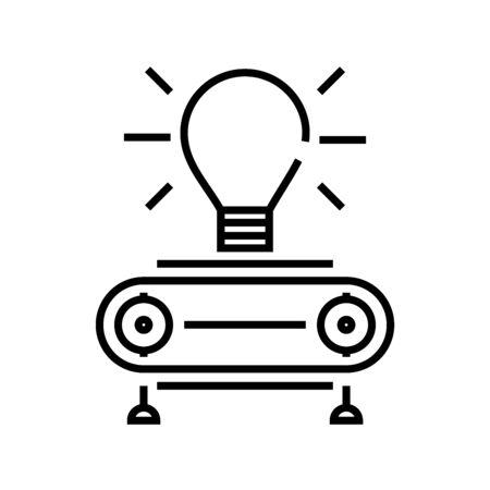 Technic idea line icon, concept sign, outline vector illustration, linear symbol.