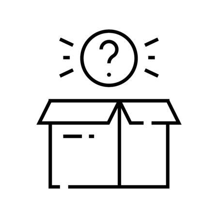 Suspense line icon, concept illustration, outline symbol, vector sign, linear symbol. Vectores