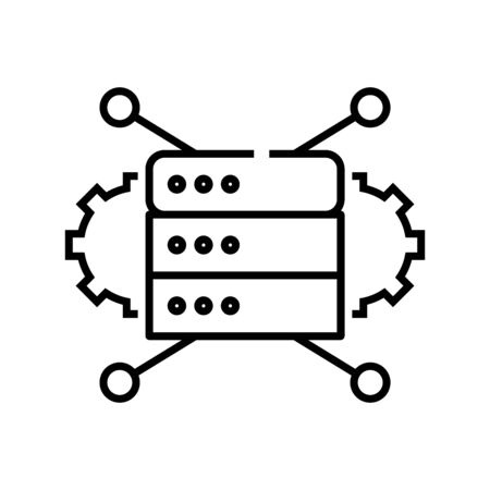 Technic settings line icon, concept sign, outline vector illustration, linear symbol.