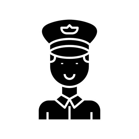 Personnel black icon, concept illustration, glyph symbol, vector flat sign.