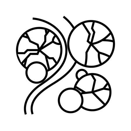 Vegetables growing line icon, concept sign, outline vector illustration, linear symbol.