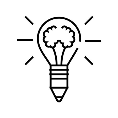 Great solution line icon, concept sign, outline vector illustration, linear symbol.