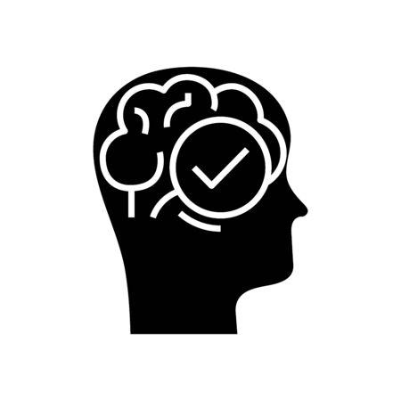 Remarked task black icon, concept illustration, glyph symbol, vector flat sign.