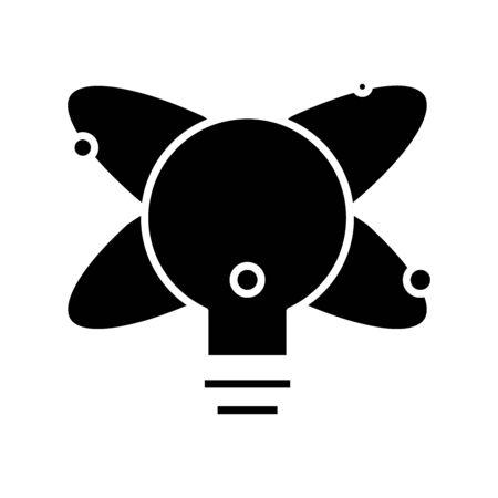 Rising idea black icon, concept illustration, glyph symbol, vector flat sign.