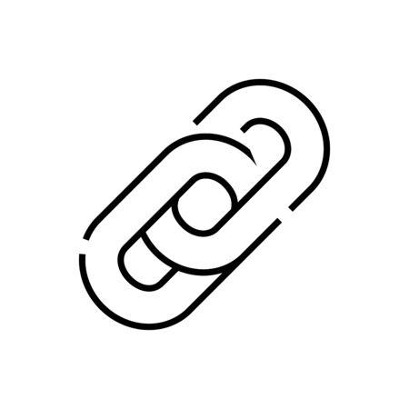 Interconnection line icon, concept sign, outline vector illustration, linear symbol. Vecteurs