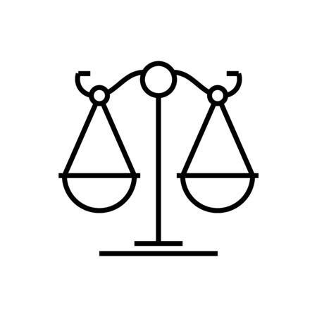 Life balance line icon, concept illustration, outline symbol, vector sign, linear symbol.