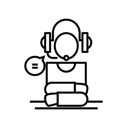 Machanisation line icon, concept sign, outline vector illustration, linear symbol.