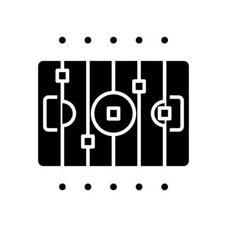 Sport arena black icon, concept illustration, flat symbol, glyph sign.