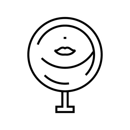 Make up mirror line icon, concept sign 向量圖像