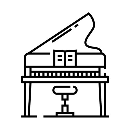 Music education line icon, concept sign
