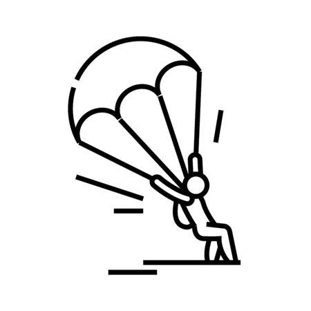 Para plane line icon, concept sign