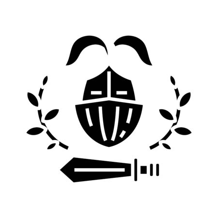 Education power black icon, concept illustration Illustration