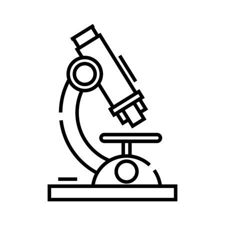 Microscope line icon, concept sign
