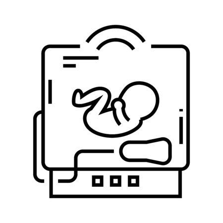 Baby x-ray line icon, concept illustration Illustration