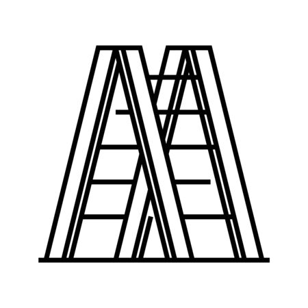 Repair stairs line icon, concept sign