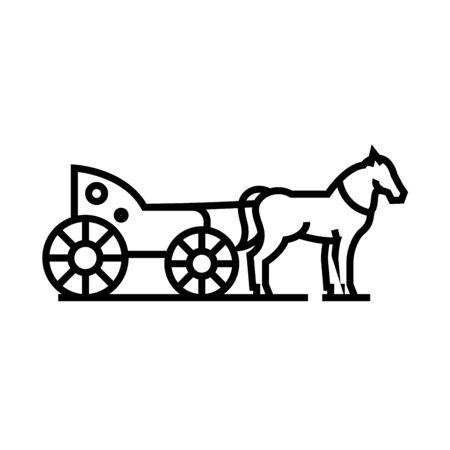 Phaeton line icon, concept illustration, outline symbol, vector sign, linear symbol.