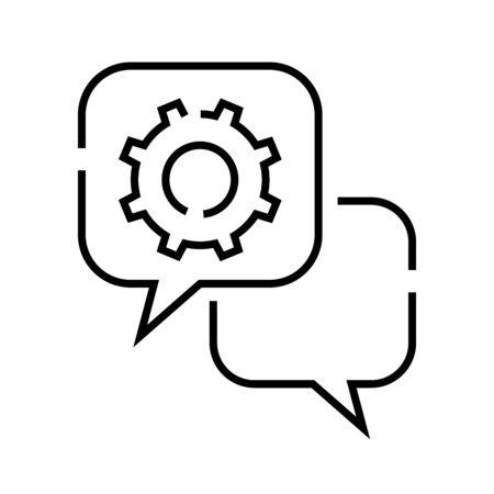 Setup massage line icon, concept sign, outline illustration, linear symbol. 矢量图像