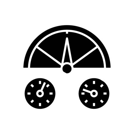 Time cycling black icon, concept illustration, glyph symbol, vector flat sign.