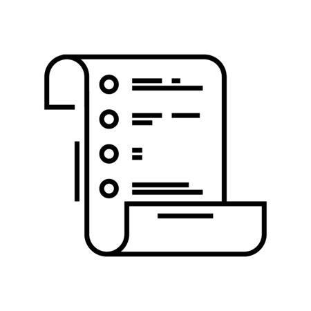 Task list line icon, concept illustration, outline symbol, vector sign, linear symbol.