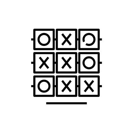 Tic tac toe line icon, concept sign, outline vector illustration, linear symbol.
