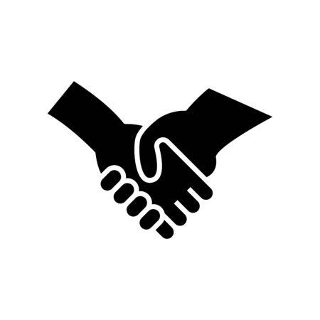 Partnership black icon, concept illustration, vector flat symbol, glyph sign.