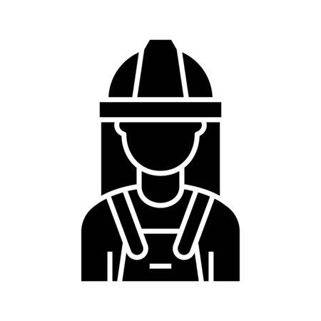 Professional uniform black icon, concept illustration, glyph symbol, vector flat sign.