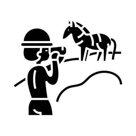 Photo naturalist black icon, concept illustration, glyph symbol, vector flat sign.
