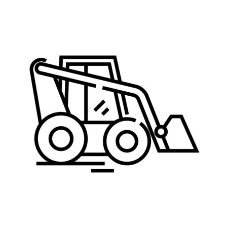 Tractor line icon, concept illustration, outline symbol, vector sign, linear symbol. Illusztráció