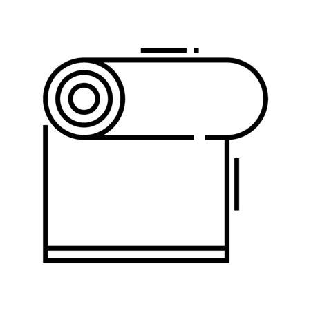 Gym mat line icon, concept illustration, outline symbol, vector sign, linear symbol.