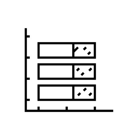Graphic date line icon, concept illustration, outline symbol, vector sign, linear symbol. 向量圖像