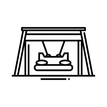Huge swing line icon, concept sign, outline vector illustration, linear symbol.