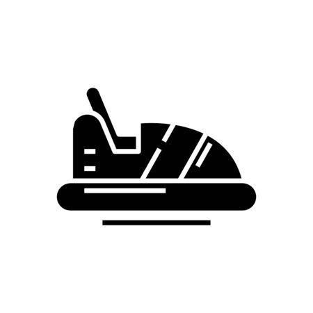 Car carousel black icon, concept illustration, vector flat symbol, glyph sign. Vecteurs