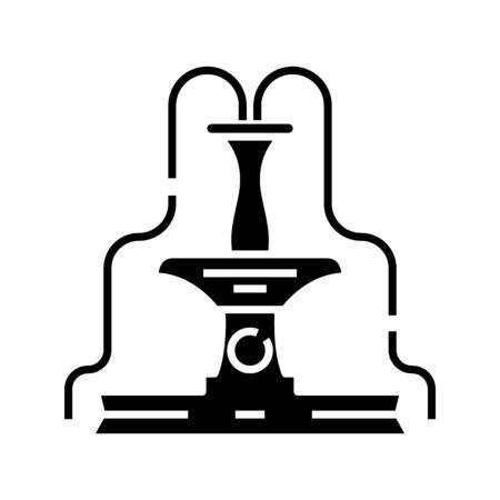 Rich fountain black icon, concept illustration, glyph symbol, vector flat sign.