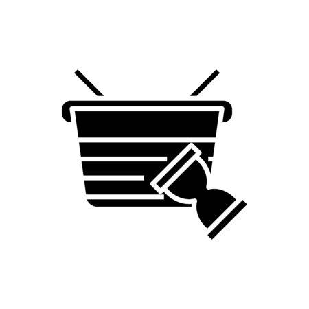 Consumer balance black icon, concept illustration, vector flat symbol, glyph sign. Vektorgrafik