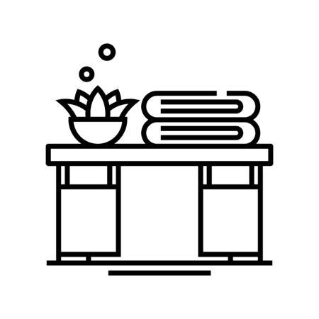 Living room line icon, concept sign, outline vector illustration, linear symbol.