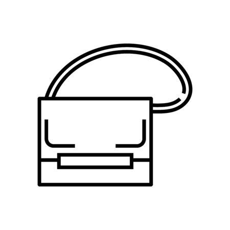 Little bag line icon, concept illustration, outline symbol, vector sign, linear symbol.