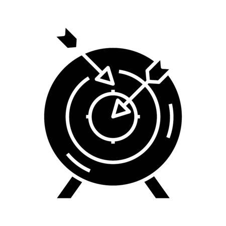 Shooting mark black icon, concept illustration, vector flat symbol, glyph sign. Ilustracja