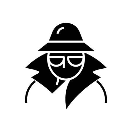 Spier black icon, concept illustration, vector flat symbol, glyph sign.